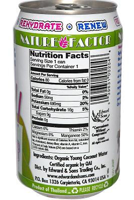 Nature Factor Organic Young Coconut Water